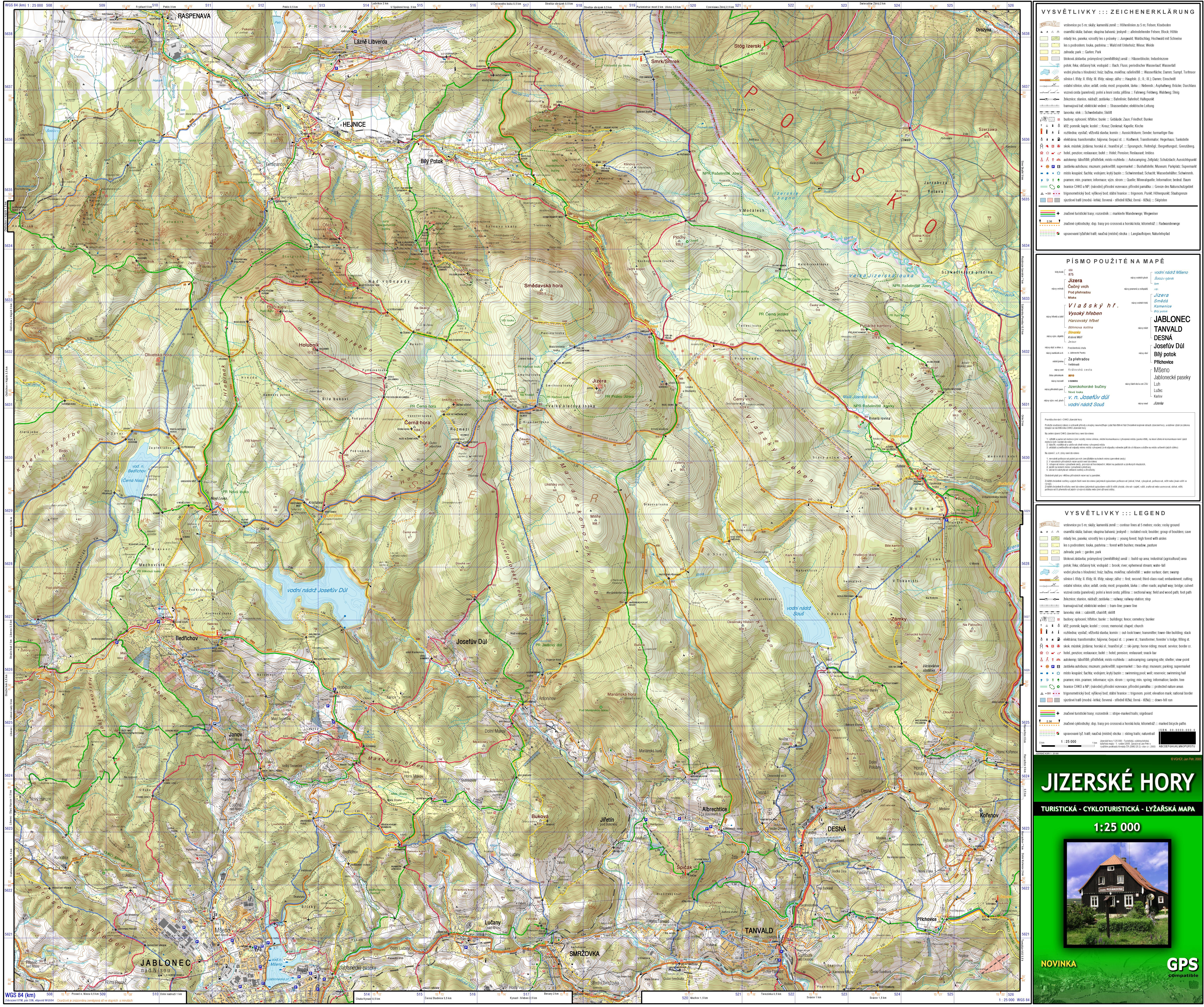 Mapa Jizerky 1 25 000 Horydoly Cz Outdoor Generation