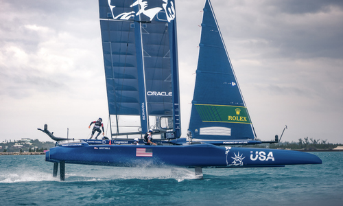 American boat helmsman confident crew can build on encouraging SailGP day