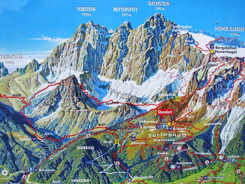 Klettersteig Map : Galerie klettersteig der johann dachstein