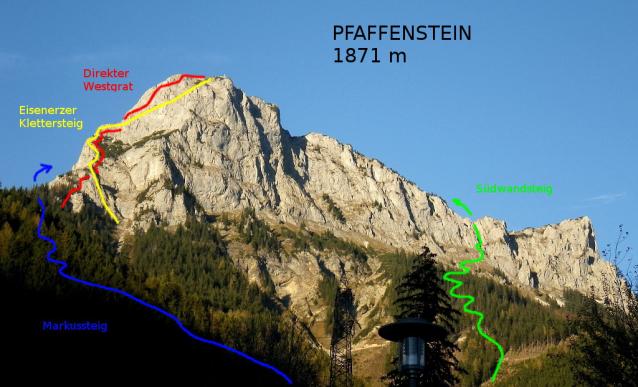 Eisenerzer Klettersteig : Galerie pfaffenstein: westgrat eisenerzer klettersteig