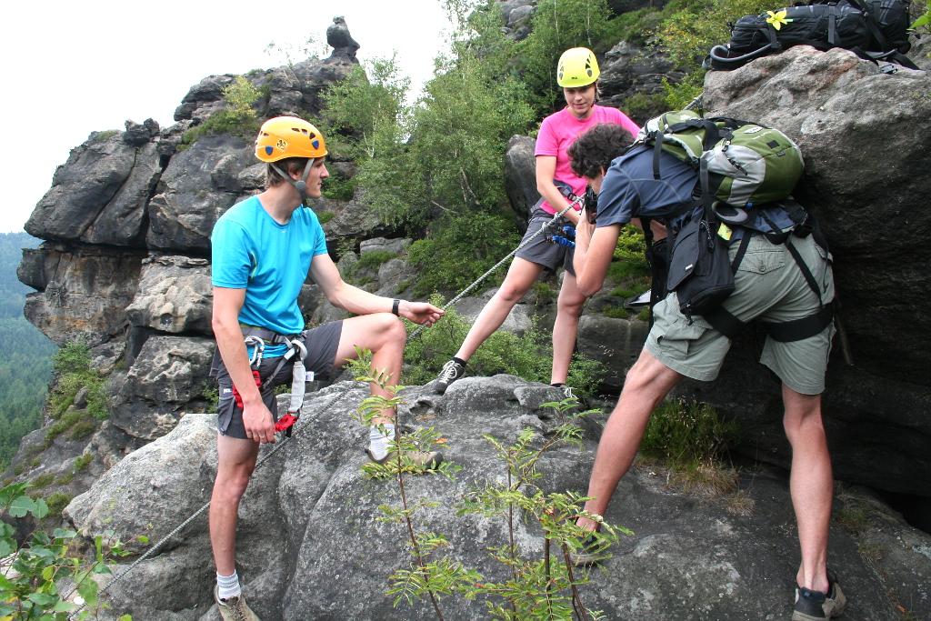 Klettersteig Zittauer Gebirge : Galerie alpiner grat klettersteig zittauer gebirge feráta