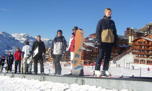 Snowboard ve Val Thorens