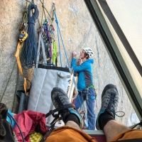 Climber Adam Ondra in the Dawn Wall