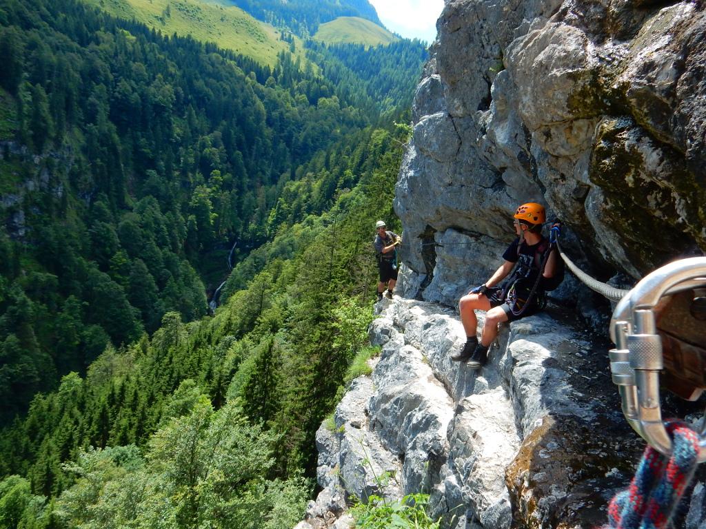 Klettersteig Postalmklamm : Galerie postalmklamm klettersteig zábavná rakouská feráta