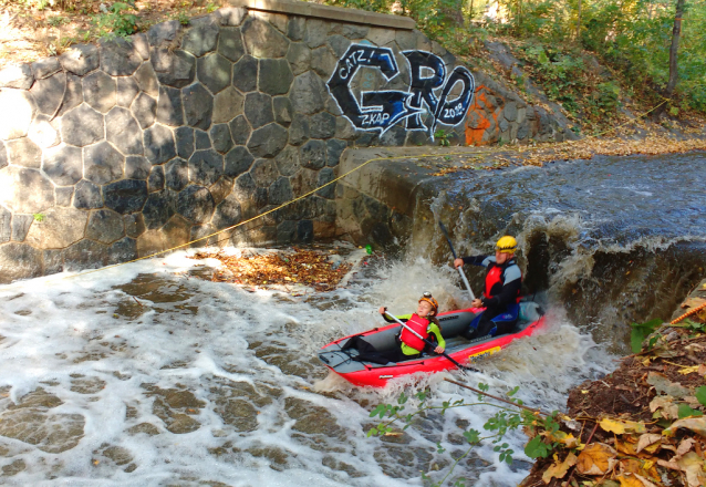 Prague Kayaking Autumn at Botič Creek