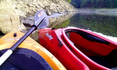 Vodácké putování na Otavě pod hladinou Orlické přehrady