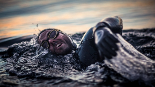 Strongman Ross Edgley swims into shore after 157 days and 2,000 miles at sea