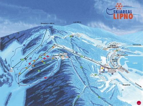 Skiareál Lipno.