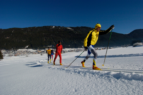 Cross country skiing Weissensee.