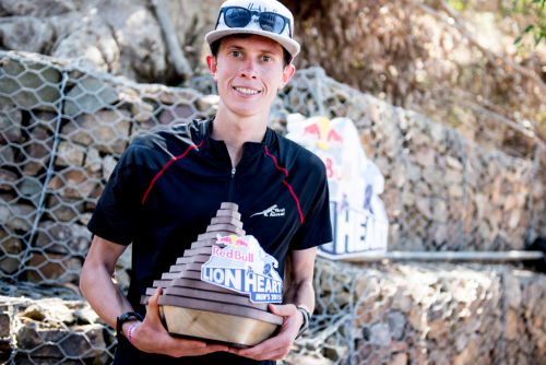 Johardt van Heerden poses for a portrait after winning the Red Bull Lion Heart in Cape Town, South Africa.