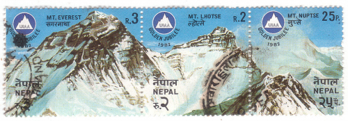 Mount Everest, Lhotse, Nuptse.