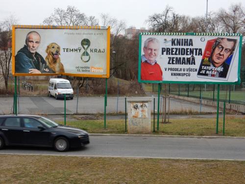 Temný kraj sedmilháře v Praze u Botiče.