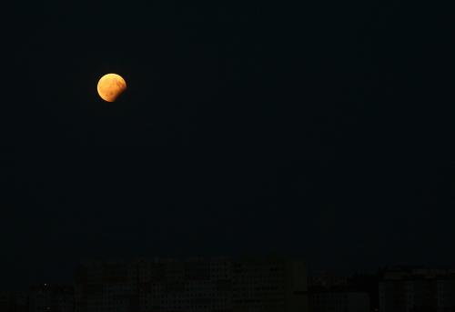 Zatmění Měsíce 7. srpna 2017, Praha.