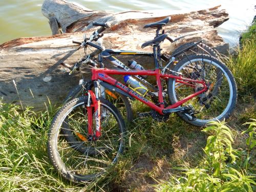 Na kole k Podleskému rybníku.